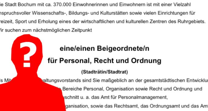 Stellenausschreibung: Bochum sucht neue/n Dezernentin/en