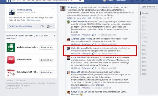 BOGESTRA lässt verhetzenden Kommentar auf ihrer Facebookseite zu