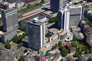 Luftaufnahme der RWE Deutschland Zentrale in Essen-2