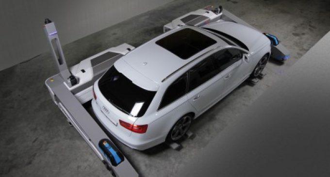 Parkroboter kann 40% mehr Parkplätze schaffen.