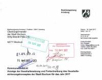 Blauer Brief verdonnert OB Eiskirch zum Nachsitzen – Werden die Bürger zur Kasse gebeten?