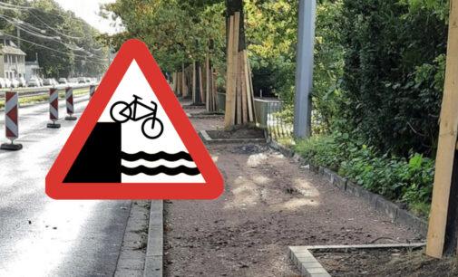 Radverkehrsführung auf der Wittener Straße unterbrochen. Partei/Stadtgestalter fordern Radstreifen auf der Straße zwischen Unterstr. und Alte Wittener Str.